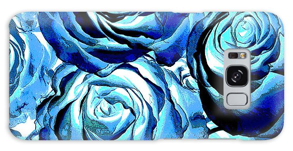 Pop Art Blue Roses Galaxy Case