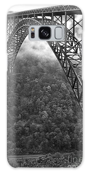 New River Gorge Bridge Black And White Galaxy Case