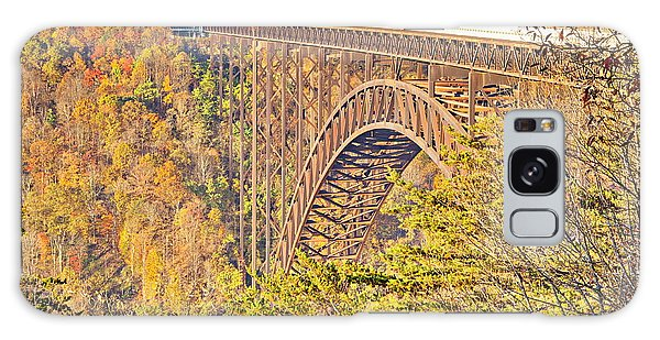 New River Gorge Single-span Arch Bridge In Autumn. Galaxy Case