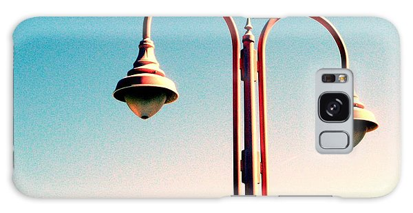 Beach Lamp Post Galaxy Case by Valerie Reeves