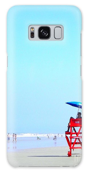 New Smyrna Lifeguard Galaxy Case by Valerie Reeves