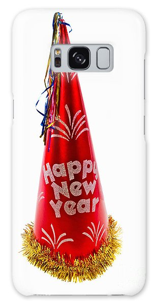 Happy New Year Party Hat Galaxy Case