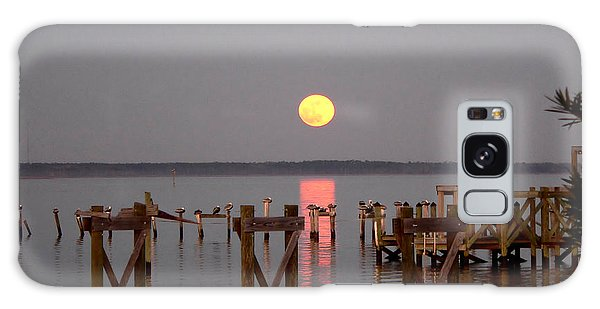New Years Eve Blue Moon On The Bay Galaxy Case