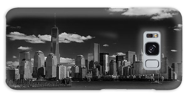New York 1 Black And White Galaxy Case