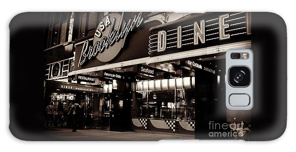 New York At Night - Brooklyn Diner - Sepia Galaxy Case by Miriam Danar