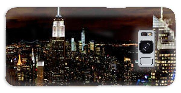 New York At Night Panorama Galaxy Case