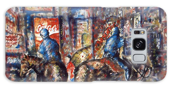 New York Broadway At Night - Oil On Canvas Painting Galaxy Case