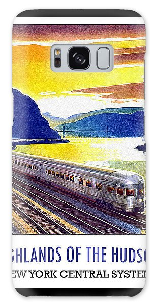 New York Central Vintage Poster Galaxy Case