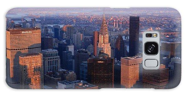 New York City At Dusk Galaxy Case