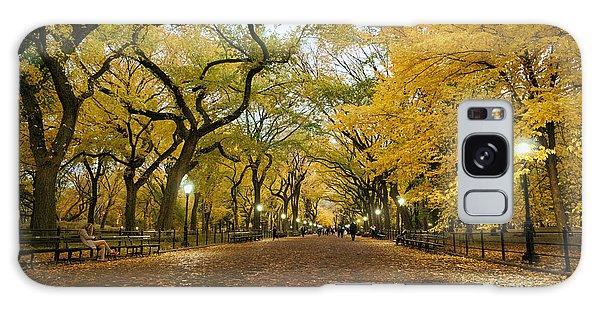 New York City - Autumn - Central Park - Literary Walk Galaxy Case