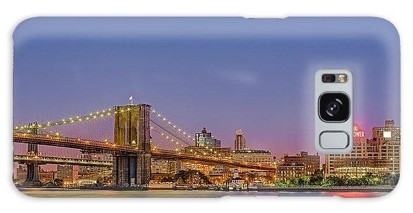 New York City Bridges Galaxy Case by Susan Candelario