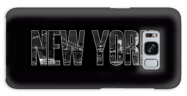 New Galaxy Case - New York City Brooklyn Bridge Bw by Melanie Viola