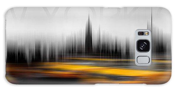 New York City Taxi Galaxy Case - New York City Cabs Abstract by Az Jackson
