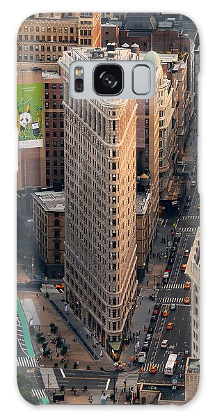 New York City Flatiron Building Aerial View In Manhattan Galaxy Case