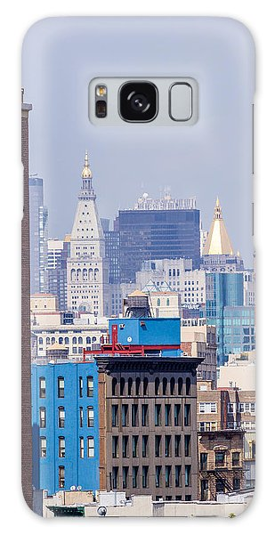 New York City From Brooklyn Bridge Galaxy Case
