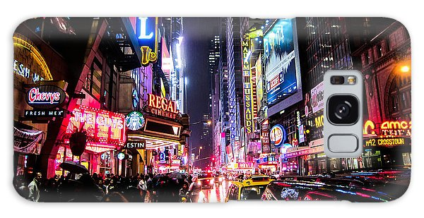 Square Galaxy Case - New York City Night by Nicklas Gustafsson