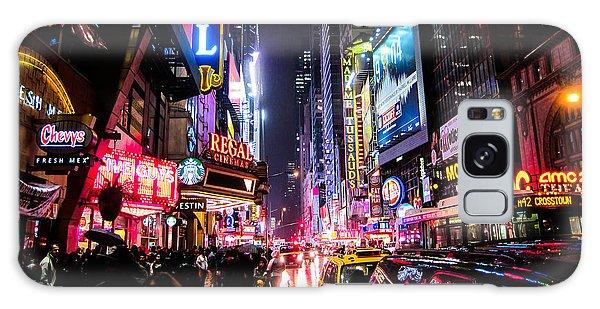 Square Galaxy Case - New York City Night by Nicklas Gustafsson