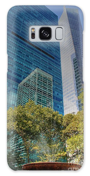 New York City Reflections Galaxy Case by Bob Hislop