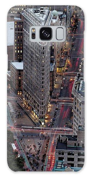 New York City Skyline Flatiron Building Galaxy Case