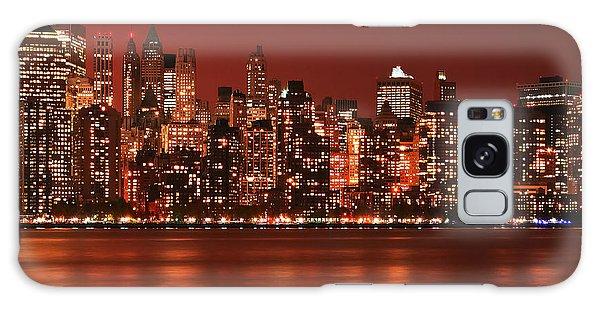 New York City Skyline In Red Galaxy Case