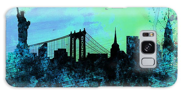 Downtown Galaxy Case - New York City Skyline by Naxart Studio