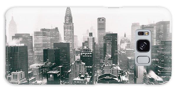 Winter Galaxy Case - New York City - Snow-covered Skyline by Vivienne Gucwa