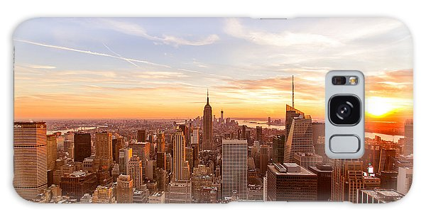 New York City - Sunset Skyline Galaxy S8 Case