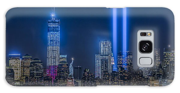 Galaxy Case featuring the photograph New York City Tribute In Lights by Susan Candelario