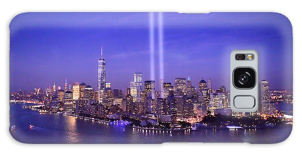 New York City Tribute In Lights World Trade Center Wtc Manhattan Nyc Galaxy Case by Jon Holiday