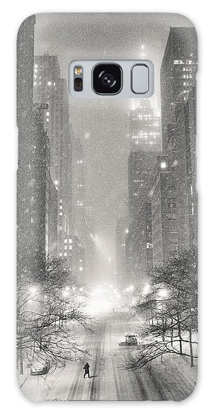 New York City - Winter Night Overlooking The Chrysler Building Galaxy Case by Vivienne Gucwa