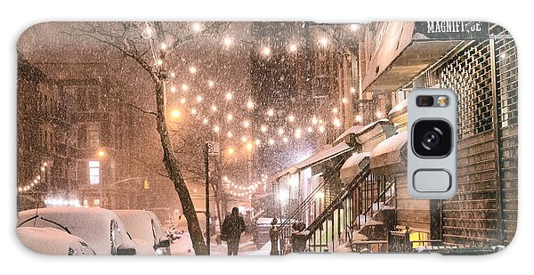 New York City - Winter Snow Scene - East Village Galaxy Case