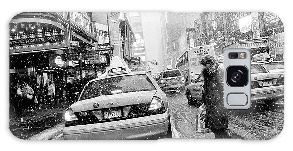 Weathered Galaxy Case - New York In Blizzard by Martin Froyda
