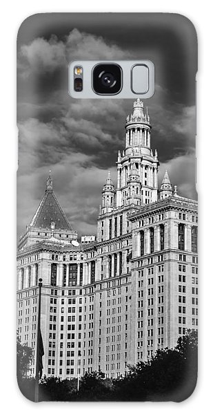 New York Municipal Building - Black And White Galaxy Case