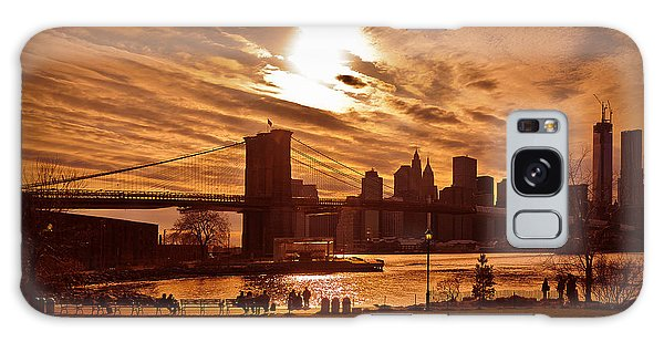 New York Skyline And Brooklyn Bridge -- Late Afternoon Galaxy Case