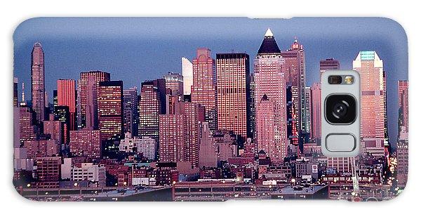 New York Skyline At Dusk Galaxy Case