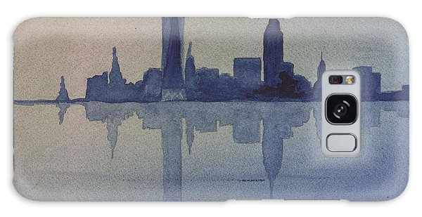 New York Skyline  Galaxy Case by Donna Walsh