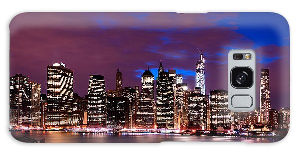 New York Skyline Magic Hour-- From Brooklyn Heights Promenade Galaxy Case