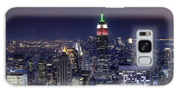 New York Skyline Night Color Galaxy Case