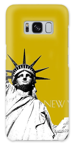Statue Of Liberty Galaxy S8 Case - New York Skyline Statue Of Liberty - Gold by DB Artist