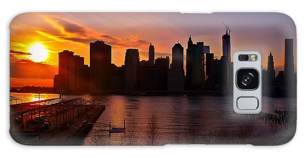 New York Skyline Sunset -- From Brooklyn Heights Promenade Galaxy Case