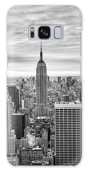 Black And White Photo Of New York Skyline Galaxy Case