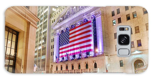 New York Stock Exchange At Night Galaxy Case