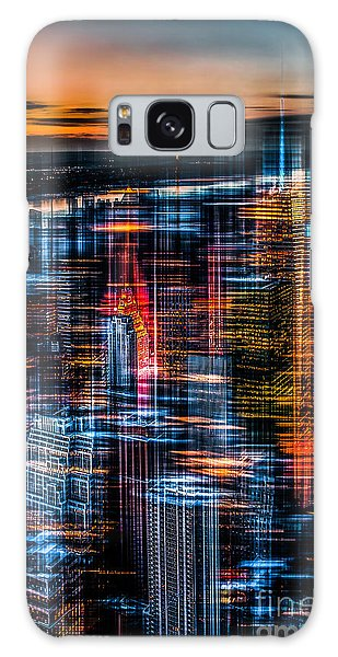 New York- The Night Awakes - Orange Galaxy Case
