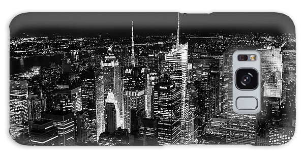 New York Times Square Bw Galaxy Case