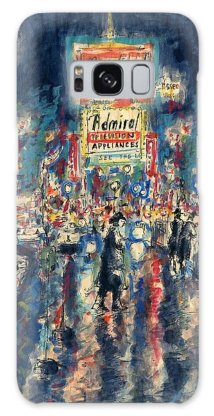 New York Times Square 79 - Watercolor Art Painting Galaxy Case
