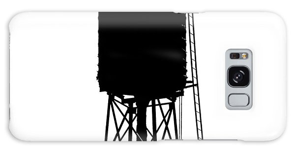 Galaxy Case featuring the photograph New York Water Tower 17 - Silhouette - Urban Icon by Gary Heller