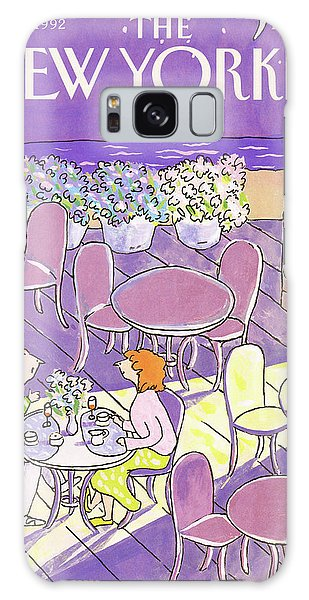 Outdoor Dining Galaxy Case - New Yorker August 3rd, 1992 by Devera Ehrenberg