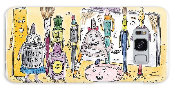Pen And Ink Drawing Galaxy Case - New Yorker December 15th, 1997 by Roz Chast