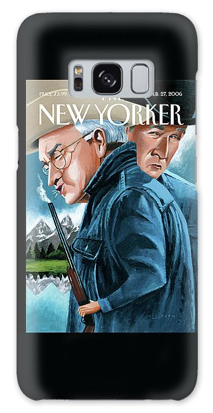 Dick Cheney Galaxy S8 Case - New Yorker February 27th, 2006 by Mark Ulriksen