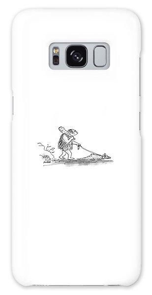 Leash Galaxy Case - New Yorker January 6th, 1986 by Frank Modell